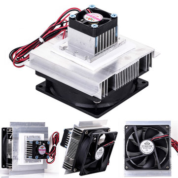 12V Thermoelectric Peltier Refrigeration Cooling Cooler Fan System Heat Sink Kit