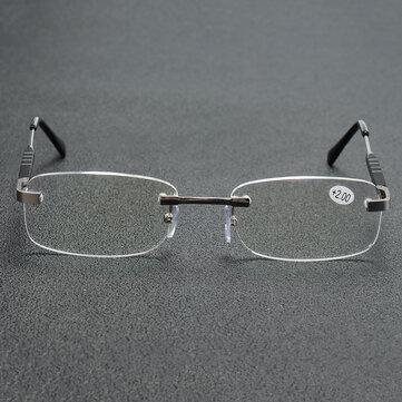 Aluminum-magnesium Alloy Reading Glasses Frameless HD Resin Lenses Presbyopic Glasses