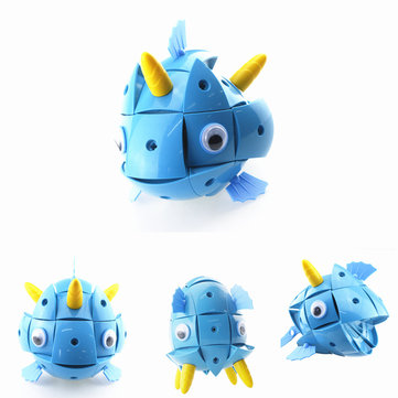 Parcae NS003 90PCS Magnetic Magic Wisdom Ball Blue Fish Blocks Various Deformation Puzzle Toys