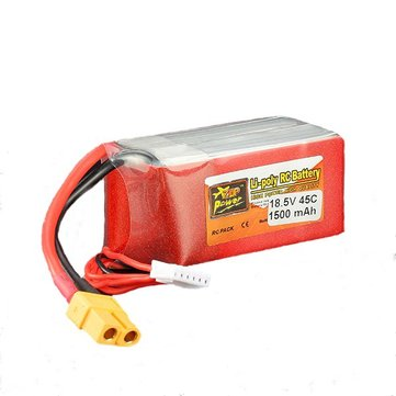 ZOP Power 18.5V 1500mAh 5S 45C Lipo Battery XT60 Plug