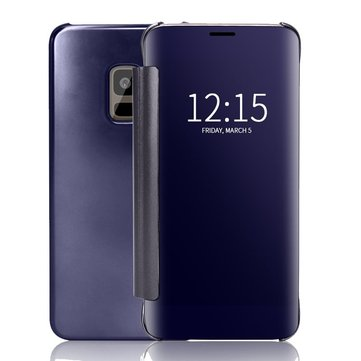 Bakeey Plating Mirror Window View Smart Sleep Flip Protective Case For Samsung Galaxy S9/S9 Plus