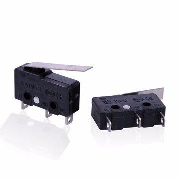 1pc 3 pinos KW12 5A 250V Interruptor tato Interruptor micro sensível com alça