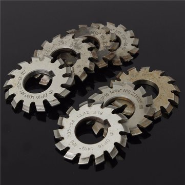8pcs DP16 PA14.5 Bore22mm #1-8 HSS Involute Gear Milling Cutter