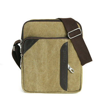 Men Casual Canvas Travel Shoulder Bag Vintage Crossbody Bag