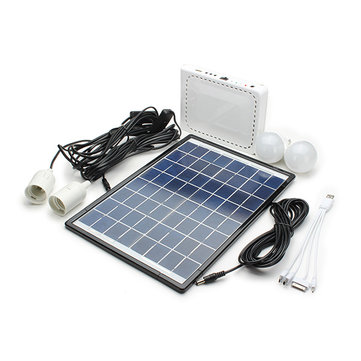 10W Lithium Batería Solar Sistema de iluminación alimentado