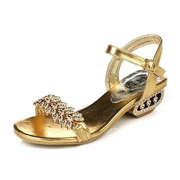 Women Summer Chic Beach Sandals Metal Strap Platform Sandals Breathable Shoes