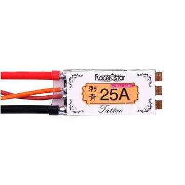 Racerstar TATTOO 25A 2-4S STM32F051/ARM Blheli_32bit Dshot1200 RaceSpec FPV Racing Brushless ESC for RC Drone