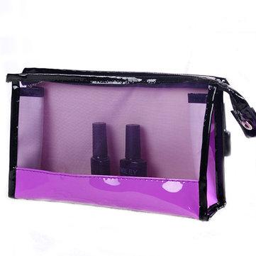 Women Travel PVC Cosmetic Bag Waterproof Transparent Zipper Storage Bags