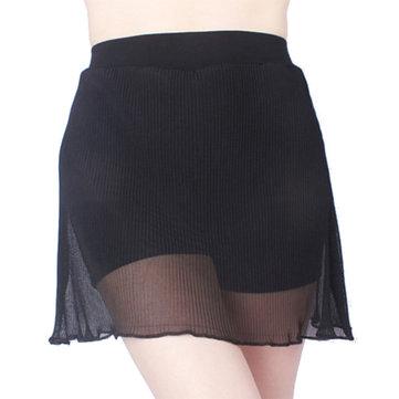 Plus Tamanho Pleied Chiffon Saia A-line Modal Terceira Safety Panty Culotte Para Mulher
