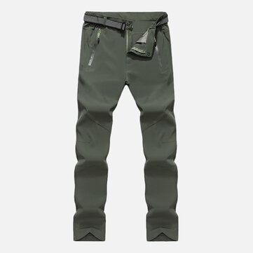 Mens Outdoor Waterproof Zipper Fly Breathable Fast Drying Pants