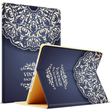 Fashion Pattern Smart Sleep/Wake Up Kickstand Case For iPad 2/3/4