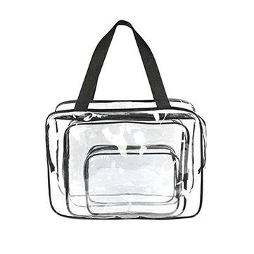 Honana HN-TB9 3pcs 지우기 여행 세면 용품 가방 PVC 방수 주최 화장품 저장 가방