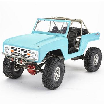 TFL Hobby Bronco C1508 1/10 2.4G 4WD 45T Voiture RC d'Escalade sans Revêtement sans Moteur 540