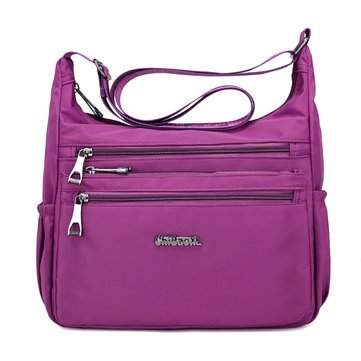 Women Nylon Waterproof Light Weight Casual Multi Pocket Shoulder Bag Crossbody Bag