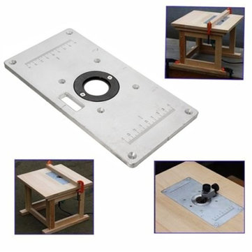 Aluminum router table insert plate for woodworking benches router 235mm x 120mm 8mm aluminum router table insert plate for keyboard keysfo Images