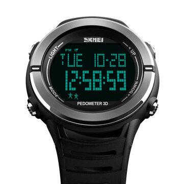SKMEI1322RelógioDigitaldeModa Masculina Esporte Multi-função de Alarme Pedômetro Relógio De Pulso