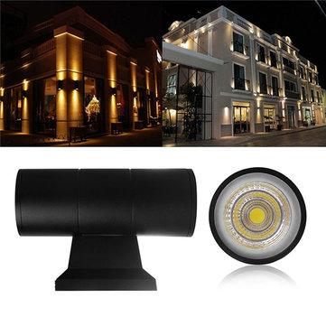 6W 10W Warm White/White Dual-Head IP65 Waterproof COB LED Wall Light Modern Outdoor Decor AC85-265V