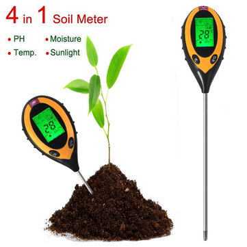 4 In 1 Electronic Soil Tester PH Humidity Temperature Analyzer