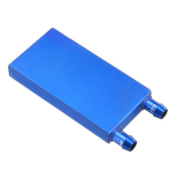 40*80 0.5mm Blue Aluminum Alloy Water Cooling Block Radiator Liquid Cooler Heat Sink Equipment