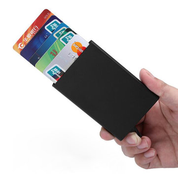 IPRee® RFID Automatic Pop Up Card Holder Aluminum Alloy Credit Card Case ID Card Storage Box
