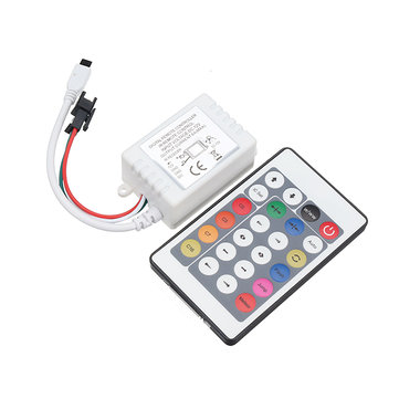 24 Key LED RGB IR 1000 Pixels Remote Controller For WS2812B WS2811 Strip Light Module Lamp DC12V