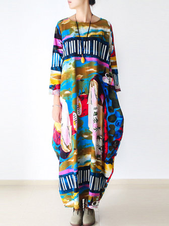 Gracila Women Abstract Print Dress