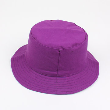 Women Solid Color Foldable Casual Fisherman Hat
