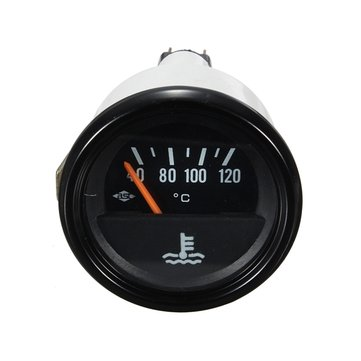 Car Vehicle Van Water Temperature Temp Gauge Yellow Green Light 52mm 12V