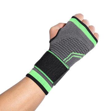 Original KALOADDacronSoportedemuñecatranspirable Protección de la palma Adultos Levantamiento de pesas Brazales deportivos Gym Aptitud Equipo de protección