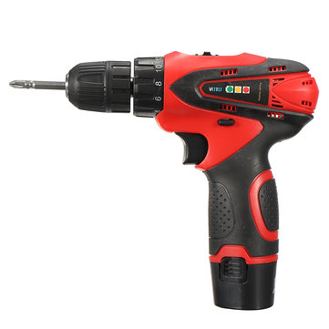 DC 12V Power Drills Two Speed Electric Screwdriver 2 Batteries 1 Charger Screw Driver Tools Kit