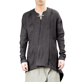 Mens Vintage Chinese Ethnic Style Cotton Linen Loose Coats