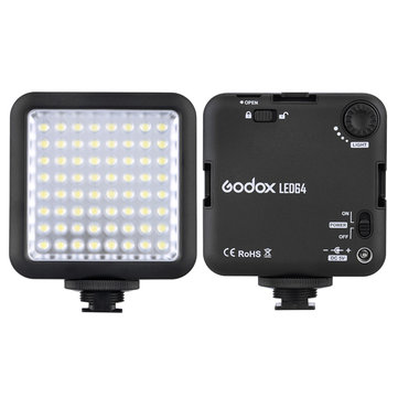 Godox LED64 LED Lamp Video Light for DSLR Camera Camcorder mini DVR Interview Macro photography