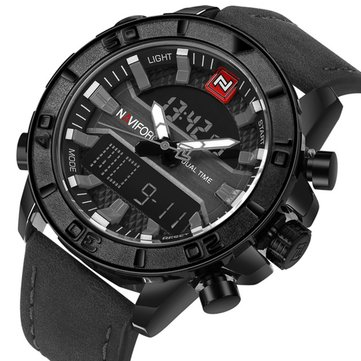 NAVIFORCE NF9114 Men Watch Dual Display Military Sport Lumin