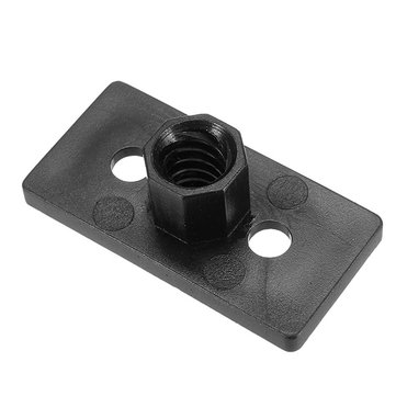10PCS T8 4mm Lead 2mm Pitch T Thread POM Black Plastic Nut Plate pour imprimante 3D