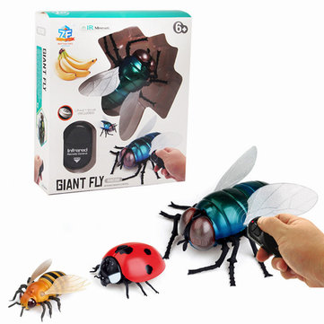 Infrared Ray Control RC Fly Ladybird Bee Flying Animal Fun Novelties Toys Kid Gift Collection