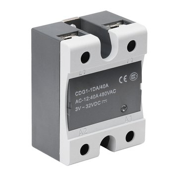 Single-phase SSR-DA 40A DC-AC Contactless Solid State Relay For Heated Bed 3D Printer Parts