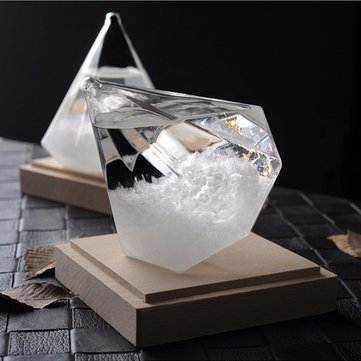 Weather Forecast Crystal Bottle Transparant Water Drop Storm Glass Home Office Decorations