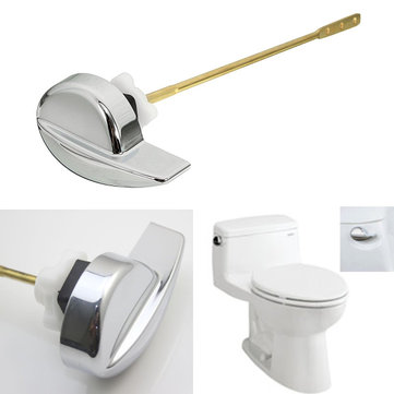Chrome Finish Universal Toilet Tank Flush Lever Brass Side Mount Handle