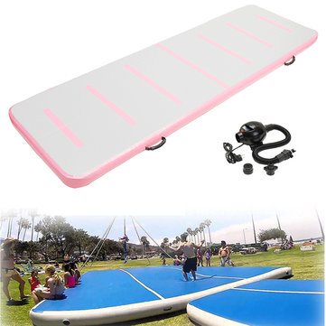 118x35x4inch Airtrack Gymnastics Mat Floor Inflatable GYM Air Track Mat Home Tumbling Rolling Mat With Air Pump