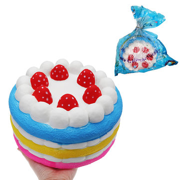 Giant Strawberry Cake Squishy 25*15CM Huge Slow Rising Soft Toy Gift Collection With Packaging