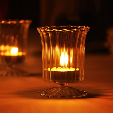 Cup Glass Candle Holder Candelabrum Candle Stick Candle Light Dinner Home Wedding Decor Gift