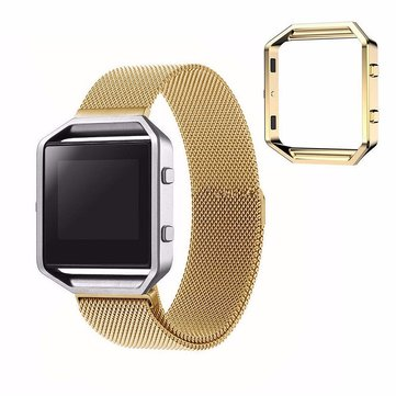 185mm Stailess Frame Stailess Strap Wristband for Fitbit Blaze Smart Fitness Watch Small Size