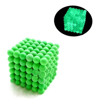 216PCs 5mm Magic Strong Fluorescent Buck Ball Creative Magnet Imanes Fun Magnetic Stress Relive Toy With Box