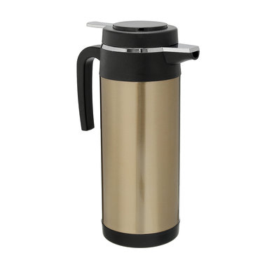 Car Kettle Bottle 1200ml Stainless Steel 12V Car Adapter Electric Heated Mug Water Kettle Bottle