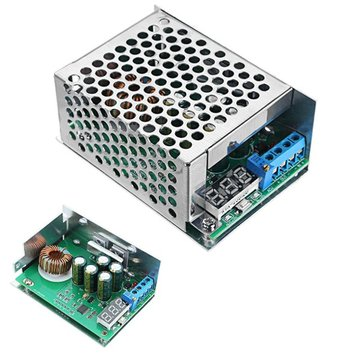 10A 300W High Power DC-DC Step Down Power Supply Module 24V 19V 12V 5V Adjustable Buck Board Stabilized Voltage Converter Voltage Regulator Voltmeter