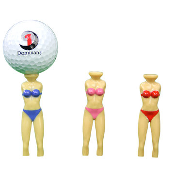 2PCS/Set Golf Tees Plastic Bikini Model Golf Ball Nail Outdoor Sport Accessories