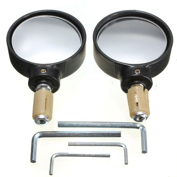 22mm 7/8inch Handlebar Round Motorcycle Bar End Mirrors