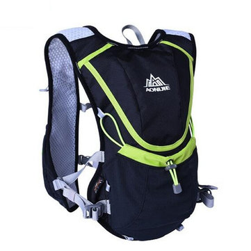 8L AONIJIE Running Vest Backpack Sports Camping Hydration Water Bladder Bag Holder