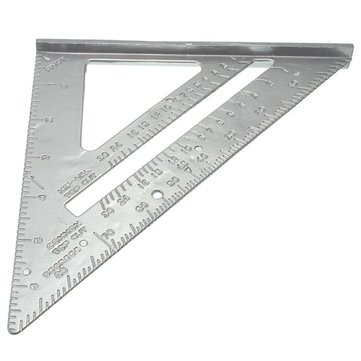 Aluminum Alloy Speed Square Combination Triangle Metric Ruler Carpenter's Protractor Miter Framing