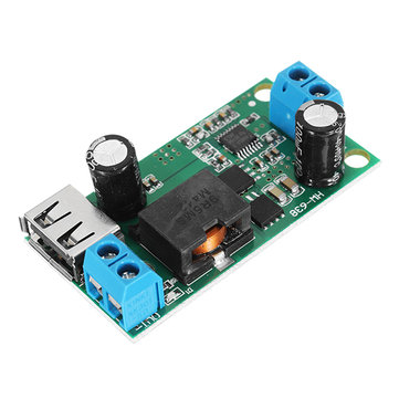 DC-DC 9-38V To 5V 5A Step Down Board Buck Module High-Power Vehicle Power Supply Converter 9V / 12V / 24V / 36V To 5V